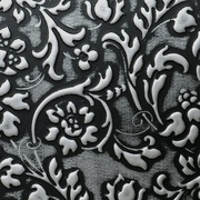 Panel sibu floral black silver matt