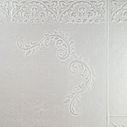 Panel sibu mystique white silver